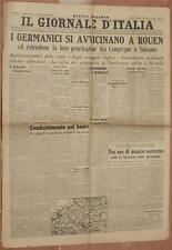 IL GIORNALE D'ITALIA FASCISMO 9 GIUGNO 1940 SAN FELICE CIRCEO MONTEVERDE ROUEN