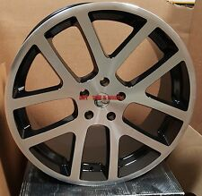 22 SRT10 Viper Style Rims Black Machine Wheels Fit Dodge RAM 1500 Durango Dakota