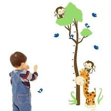 Cartoon Giraffe Monkeys Wall Stiker Children's Growth Height Measure Chart