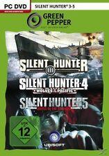 PC Computer Spiel ***** Silent Hunter 3, 4 & 5 * 3-5 ********************NEU*NEW