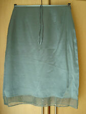 Warehouse skirt s12 silver blue 100% silk lined gauze sequin hem detail 66cm