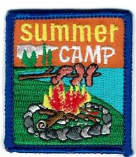 Girl Boy Cub SUMMER CAMP lake Fun Patches Crest Badge SCOUT GUIDE camper camping