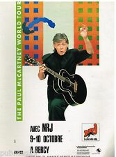 Publicité Advertising 1989 Concert The Paul Mc Cartney World Tour