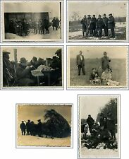 6 PHOTOS Italian Polish Ukrainian PARTIES Hunting Hare prewar POLAND 1932 - 1938