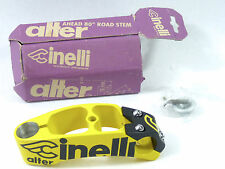 "Cinelli Alter stem 120mm 1"" black yellow Once Vintage Road Bicycle Lance NOS"