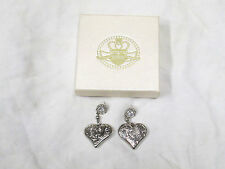Kathy Van Zeeland silver tone earrings    Heart Shaped