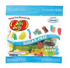 SUGAR FREE GUMMI BEARS  - Jelly Belly Candy Jelly Beans - 2.8 oz BAG - 12 PACK