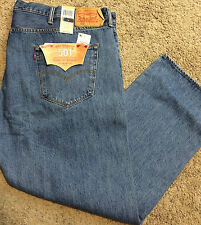 NWT Levi's 501 BIG & TALL 50X29 Straight Leg Button Fly Stonewash MSRP $74