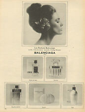 Publicité Advertising 1965  Parfums BALENCIAGA le dix - quadrille