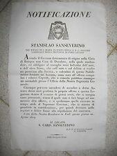 """V760-STATO PONTIFICIO-BOLOGNA APERTURA DI UNA """"CASA DE DISCOLATO"""" 1819"""