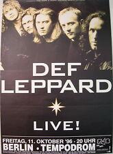 DEF LEPPARD CONCERT TOUR POSTER 1996 SLANG