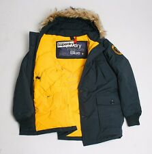 Genuine Superdry British Design Blue Rescue Everest Down Feather Coat Clearance