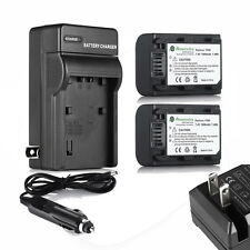 Two Battery + Charger for SONY NP-FH50 FH30 FH40 DCR-SX45 DSC-HX200V A230 A330