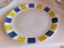 Steelite International England  ~  Charger/Chop Plate Rnd Platter ~ Yellow Blue