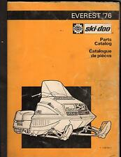 1976 BOMBARDIER SKI-DOO EVEREST SNOWMOBILE PARTS MANUAL (751)