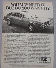 1977 Lancia Beta HPE Original advert