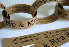 Paper Chain Garland Decoration - Mr & Mrs/Wedding/Rustic/Homespun/Farm