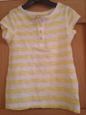 Next Girls Yellow And White Striped T-shirt Aged 3 Years