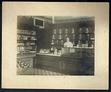 1910 CANDY STORE Vintage Cabinet Photograph (Hundreds of Visible Products)