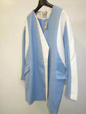 ASOS Coat With Asymmetric Colour Block Blue & Cream UK 18 US 14 RRP £85 (CAD7)