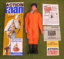 Action man 40th boxed action pilote noir peint cheveux dur mains (gi joe)