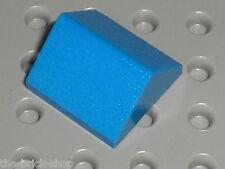 LEGO Blue Slope Brick 45 2 x 2 Double ref 3043 / set 3739 733 7146 393 6090 ...