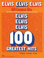 """ELVIS ELVIS ELVIS"" 100 GREATEST HITS PIANO/VOCAL/GUITAR CHORDS MUSIC BOOK NEW!!"