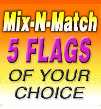 Swooper 11.5' Feather Flag Banner Sign MIX-N-MATCH Wholesale 5 Pack (Flags Only)
