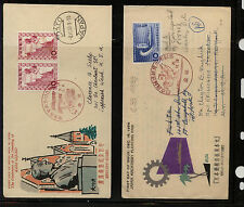 Japan  2   cachet   covers   to   US              MS0917