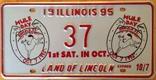 Illinois Mule Day license plate Donkey Animal Livestock Horse Riding Columbia TN