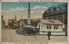 Old Postcard - Red Cross Building - State Street - New London CT