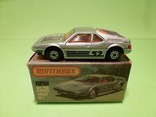 MATCHBOX 52 BMW M1 - METALLIC SILVER GREY 1:57 - NEAR MINT IN BOX