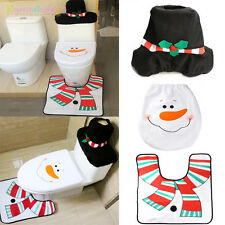 New Santa Snowman Toilet Covers Dinner Decor Christmas Decorations Party Tools