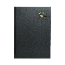 Collins 2018 A4 Day To A Page  Early Edition Diary Black - 44E-2018