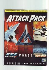 ATTACK PACK - 3 AIR/TANK/FOOT COMBAT PC GAME COMPILATION - ORIGINAL BIG BOX VGC