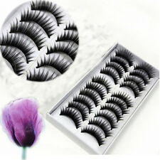 10 Pairs Long Thick False Eyelashes Extensions For Woman Lady Big Sale