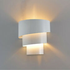 Modern White Wall light Indoor UP & DOWN Curved Sconce Lighting Lamp Bedroom