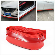 Luxury Car Front Bumper Quick Lip Splitter Body Side Spoiler Skirt Protector Red