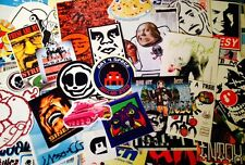 100 STREET ART - GRAFFITI STICKERS - OBEY- SPACE INVADER PACK - Sticker Bomb