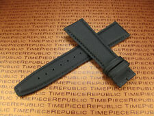 New 21mm IWC Black Leather Strap TOILE Fabric Watch Band PILOT Portuguese II