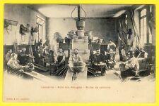cpa Belle Carte DOS 1900 SUISSE LAUSANNE ASILE des AVEUGLES Atelier de VANNERIE