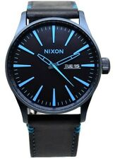 Nixon Sentry A1052224 Dark Blue Dial Blue Leather Band Men's Watch