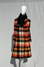Vintage Pauline Trigere Plaid Checkered Wool Coat Amelia gray BH overcoat small