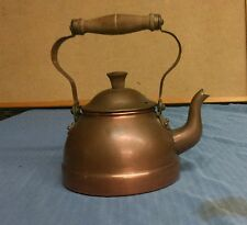 vintage COPRAL COPPER COFFEE/TEA POT kettle MADE IN PORTUGAL wood handle