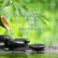 Pure Natural Sounds Waves Rain Wind 4 CDs Relaxation Deep Sleep Stress Relief