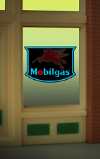 """MOBILGAS PEGASUS WINDOW SIGN -CAN BE TRIMMED AS SMALL AS O.9"""" W X 0 .85"""" T"""
