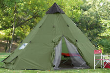 Guide Gear Teepee Tent 18 X 18, 190-denier polyester shell, Sleeps up to 12