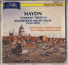 """Haydn - Nicolet, Filippini, Canino: """"London"""" and other Trios (Novalis) Like New"""