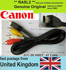 Original Canon AV Stereo Cable SD4000 SD4500 is IXUS 1000 1100 310 HS