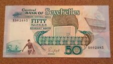 Seychelles Banknote. 50 Rupees. Uncirculated. Dated 1989.